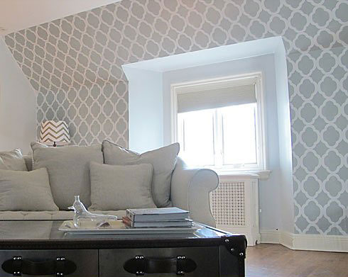 Stencils sparrow stoll - Cost to paint interior walls and ceilings ...