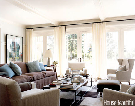 White woodwork and drapes away from glass