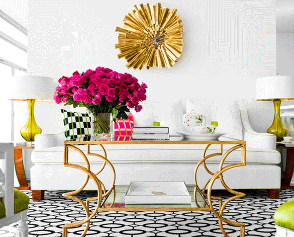 contemporary gold table